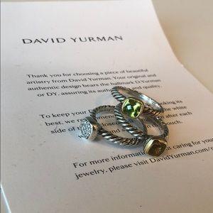 Set of TWO David Yurman Rings